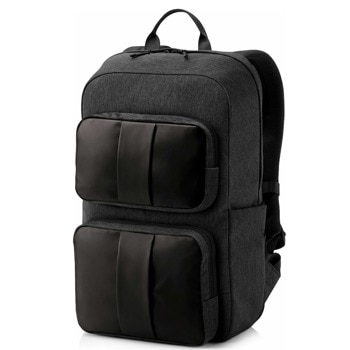 "Раница за лаптоп HP 1G6D3AA, до 15.6"" (39.62 cm), полиестер, черна image"