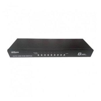 KVM суич Dahua KVM0401HM-E100, от 8x HDMI към HDMI, 2x USB, PS/2, черен image