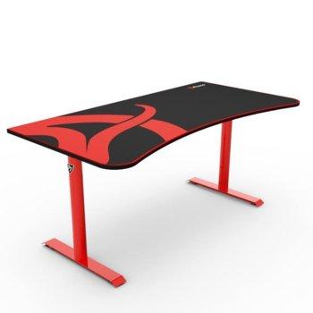 Компютърно бюро Arozzi, Arena Red, текстилно покритие, черно/червена image