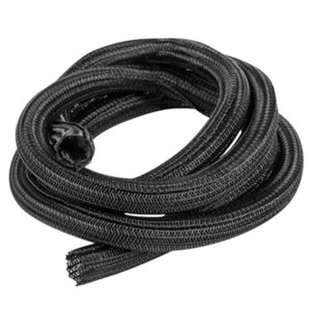 Органайзер за кабели Lanberg, 2m/19mm, чернен image