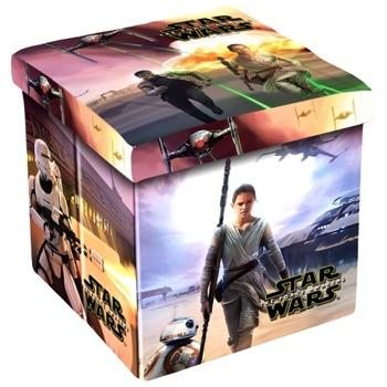 Табуретка Disney Star Wars, до 150кг, текстил, MDF основа, 3в1, сгъваема, различни цветове image