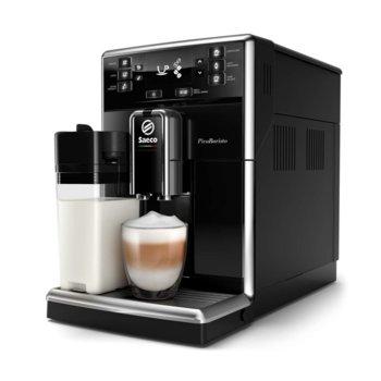Aвтоматична еспресо кафемашина Philips Saeco PicoBaristo, 10 напитки, вградена първокласна кана за мляко, предна част с цвят Piano Black, 10-степенна регулируема мелачка image