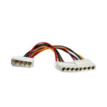 Захранващ кабел 4pin към 2x4pin image