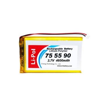 Литиева батерия LP755590-PCM, 3.7V, 4600mAh, Li-polymer, 1бр., PCM защита image