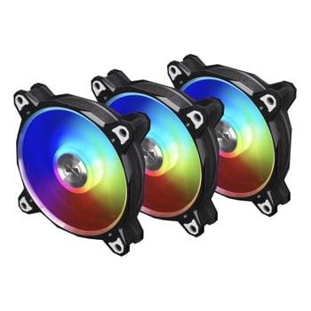 Вентилатори 120mm Lian Li Bora Digital BR120 (G99.12Q18P.R30B), 4-pin, 1800 rpm, 3 броя image