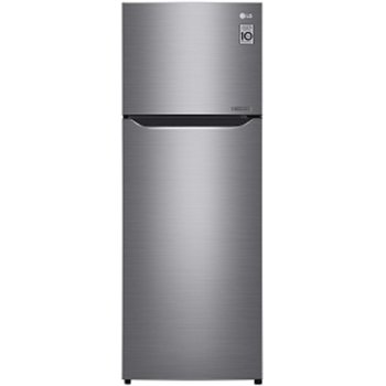 Хладилник с камера LG GTB-382PZCZD, клас A++, 165л. общ обем, свободностоящ, 184 kWh/годишно, No Frost технология, мулти въздушен поток, био покритие, инокс image
