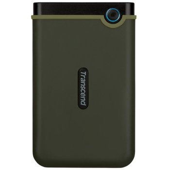 """Твърд диск 2TB Transcend Slim StoreJet M3G, тъмнозелен, 2.5"""" (6.35cm), външен, USB 3.1 image"""