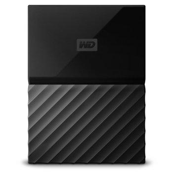 """Твърд диск 3TB Western Digital MyPassport, външен, 2.5""""(6.35cm), USB 3.0, черен image"""