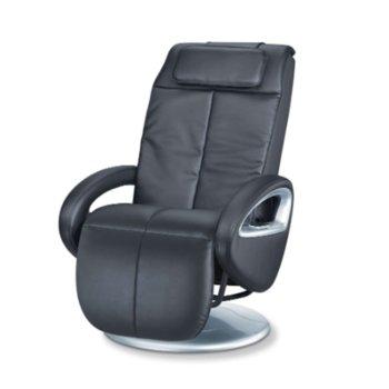 Масажиращ стол Beurer MC 3800 HCT, Shiatsu massage, 3 програми, 4 масажни глави, въртящ се, черен image