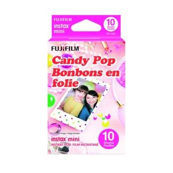 Фотохартия Fujifilm Candypop Instant Film, за Fujifilm Instax Mini, 800 ISO, 10 листа image