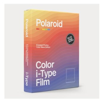 Фотохартия Polaroid Color film for i-Type – Color Wave Edition, 4 x 3 inch, за Polaroid Now, 8 листа image
