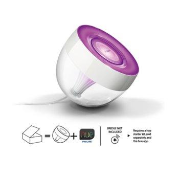 LED система за wireless осветление Philips HUE Living Color Iris 8718291480310, 10W, 210lm, бяла/лилава  image