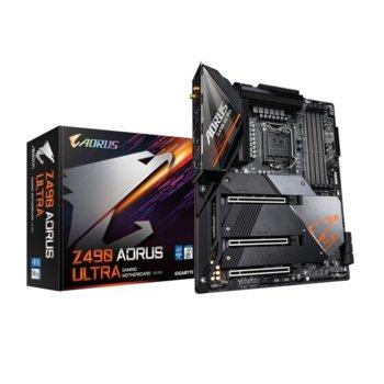 Дънна платка Gigabyte Z490 AORUS ULTRA, Z490, LGA1200, PCI-E 3.0 (HDMI)(SLI&CF), 6x SATA3, 3x M.2, 3x USB 3.2 Gen 2 Type-A, Wi-Fi, Bluetooth, ATX image