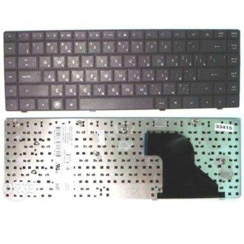 """Клавиатура за HP Compaq 320 321 326 420 (13.3"""" - 14""""), кирилица, черна image"""