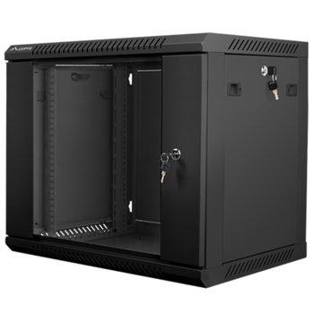 "Комуникационен шкаф Lanberg WF01-6409-10B, 19"", 9U, 600 x 450 x 507, черен image"