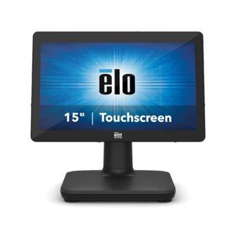 "All in One компютър Elo EPS15E2-2UWA-1-MT-4G-1S-W1-64-BK, четириядрен Intel Celeron J4105 1.5/2,5 GHz, 15.6"" (39.624 cm) HD LED Capacitive Multi Touch Display, 4GB DDR4, 128GB SSD, USB-C, Windows 10 image"