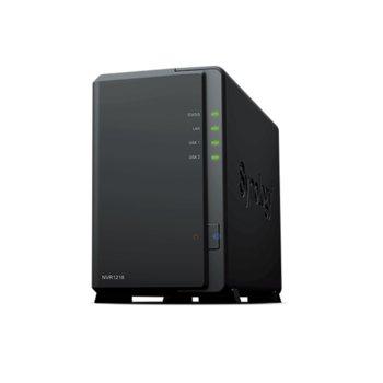"IP видеорекордер Synology NVR1218, 12 канала, MJPEG/MPEG-4/H.264/H.265, 2x 3.5"" SATA, 1x USB 3.0, 2x USB 2.0, 1x LAN 10/100/1000Mbps, 1x HDMI, 1x eSATA, 1GB DDR3 RAM image"