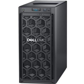 Сървър Dell PowerEdge T140 (PET140CEEM02), четириядрен Intel Xeon E-2224 3.4/4.6GHz, 16GB DDR4 ECC UDIMM, 1TB HDD, 3x USB 3.0, No OS, 1x 365W image