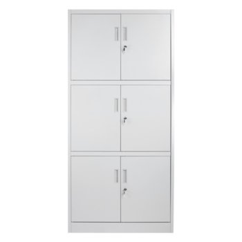 Метален шкаф Carmen CR-1260 LZ, 3x рафтове, прахово боядисан, метален, сив image