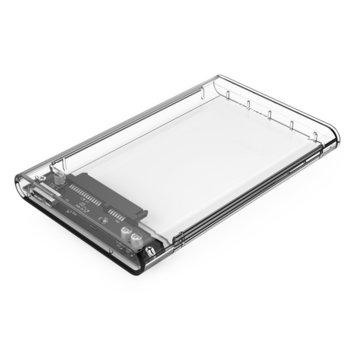 "Кутия 2.5""(6.35 cm) Orico 2139U3-CR-PRO за 2.5"" (6.35 cm) HDD/SSD, USB 3.0, прозрачна image"