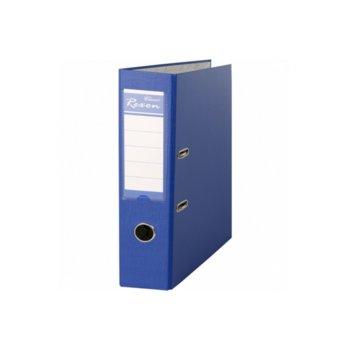 Класьор Rexon, за документи с формат до A4, дебелина 8см, с метален кант, син image