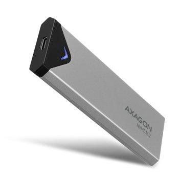 Кутия M.2 2280 AXAGON EEM2-UG2 за M.2 NVMe (2242/2260/2280) SSD, USB C 3.2 Gen 2, сива image