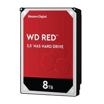 """Твърд диск 8TB WD Red NAS, SATA 6GB/s, 5400rpm, 256MB кеш, 3.5"""" (8.89cm) image"""