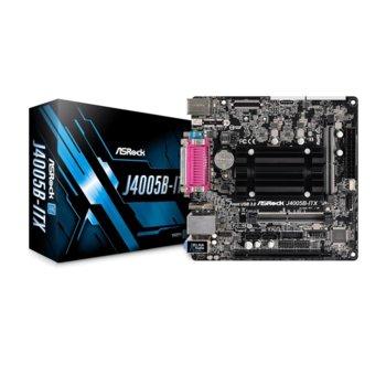 Дънна платка Asrock J4005B-ITX, вграден двуядрен Gemini Lake Intel Celeron J4005 2.0/2.7 GHz, PCI-E (HDMI&DVI), DDR4, LAN, 2x SATA, 3x USB 3.1 Gen1, Mini ITX image