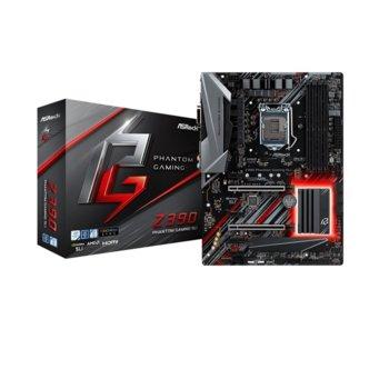 Дънна платка AsRock Z390 Phantom Gaming SLI, Z390, LGA1151, DDR4, PCI-Е (HDMI&DVI-D)(CFX&SLI), 6x SATA 6Gb/s, 2x Ultra M.2, USB 3.1 Gen1, ATX image