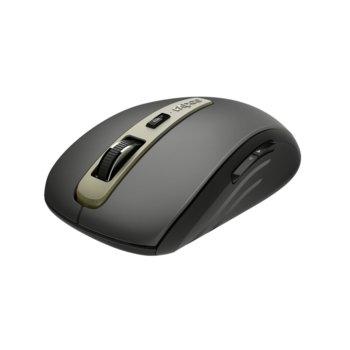 Мишка Rapoo MT350, безжична (Bluetooth 4.0/2.4GHz), оптична (1600dpi), USB, черна image