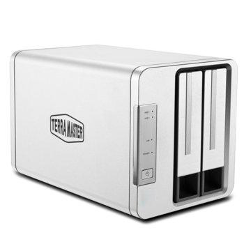 Мрежови диск (NAS) TerraMaster F2-210, четириядрен Realtek RTD1296 1.4 GHz, с 2 дискa Seagate NAS 2TB, 1GB, 1x 1GbE port, 2x USB 3.0 image