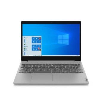 "Лаптоп Lenovo IdeaPad 3 15IIL05 (81WE00R0RM)(сив), четириядрен Ice Lake Intel Core i5-1035G1 1.0/3.6 GHz, 15.6"" (39.62 cm) Full HD TN Anti-Glare Display, (HDMI), 12GB, 512GB SSD, 2x USB 3.1, No OS image"
