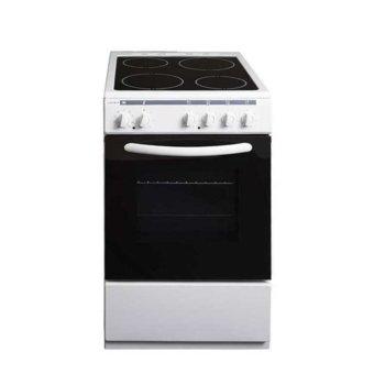 Готварска печка Crown 50C3MA, 4 нагревателни зони, 48 л. вместимост на фурната, 8 функции на фурната, бяла image