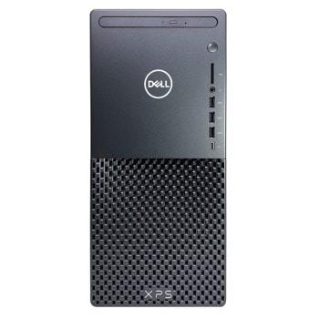 Настолен компютър Dell XPS 8940 (DXPS8940I732G1T3070_WIN-14), осемядрен Comet Lake Intel Core i7-10700 2.9/4.8 GHz, NVIDIA GeForce RTX 3070 8GB, 32GB DDR4, 1TB SSD & 1TB HDD, 1x USB 3.1 Gen 1 Type-C, Windows 10 Pro image