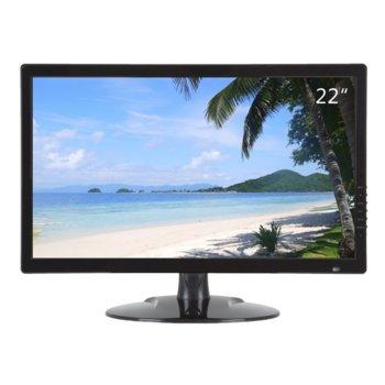 """Монитор Dahua LM22-L200, 21.5"""" (54.61cm) LED панел, Full HD, 5ms, 1000:1, 200cd/2, HDMI, VGA, BNC image"""