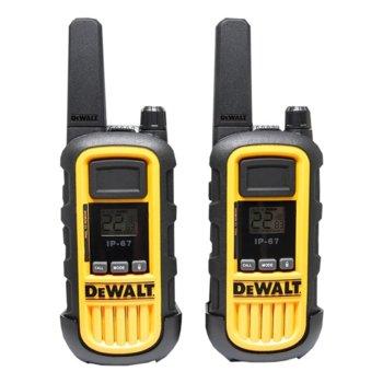 Радиостанции DeWALT DXPMR 800, 16 канала, до 10 km, UHF/FM, поставка за зареждане, жълти image