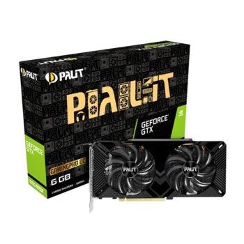 Видео карта Nvidia GeForce GTX 1660 SUPER, 6GB, Palit GeForce GTX 1660 SUPER GP OC, GDDR5, 192bit, DisplayPort, HDMI, DVI image
