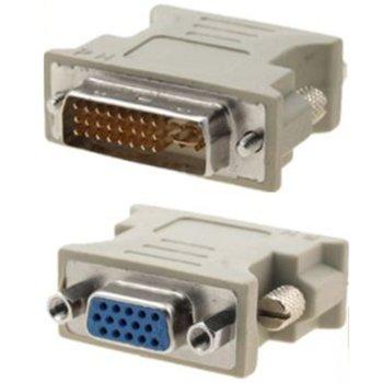 Преходник от VGA (ж) към DVI (м), бял image