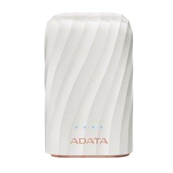 Външна батерия /power bank/ A-Data P10050C, 10050mAh, бяла, 2.4A/5V image
