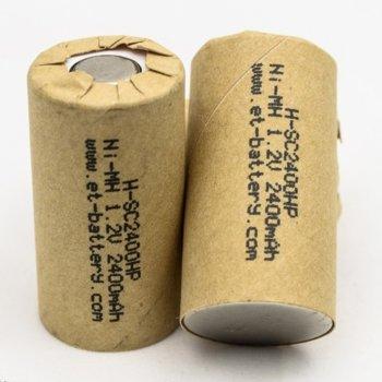 Акумулаторна батерия Energy Technology H-SC2400HP, SC, 1.2V, 2400mAh, Ni-Mh, 1 брой image