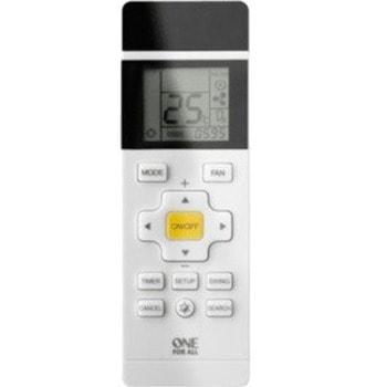 Дистанционно One For All URC1035, универсалнo, за климатици, LCD екран, включва всички основни функции (5 опции), регулиране на скоростта на вентилатора и функция за таймер, бяло image