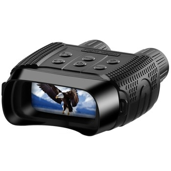 Бинокъл Levenhuk Halo 13x Wi-Fi, цифров за нощно виждане, 13x оптично увеличение, 1—4x цифрово увеличение, 33.5mm апертура, Wi-Fi, инфрачервено осветление със 7 нива на яркост, обхват на нощно откриване до 300 метра, захранване с батерии 6x AA, черен image
