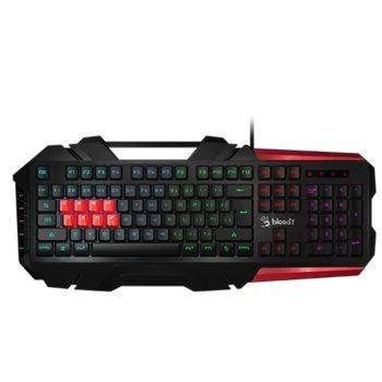 Клавиатура A4Tech Bloody Gaming B3590R, подсветка, водоустойчива, черна, USB  image