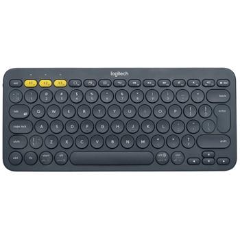 Клавиатура Logitech K380, безжична, компактна, нисък профил, черна, Bluetooth, US English image