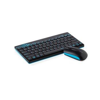 Комплект клавиатура и мишка Rapoo 8000, безжични, оптична мишка (1000 dpi), USB, черни image