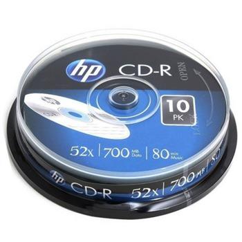 Оптичен носител CD-R, 700MB, HP, 52x, 10 бр. image
