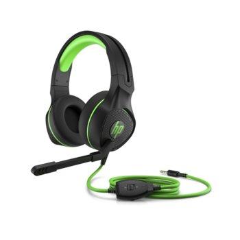 Слушалки HP Pavilion Gaming 400 Headset, микрофон, 3.5 мм жак, черни/зелени image