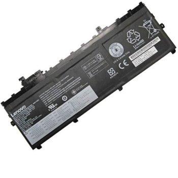 Батерия (оригинална) за лаптоп Lenovo, съвместима с модели ThinkPad X1 Carbon Gen 5 20HQ 01AV430, 11.52V, 5000mAh image