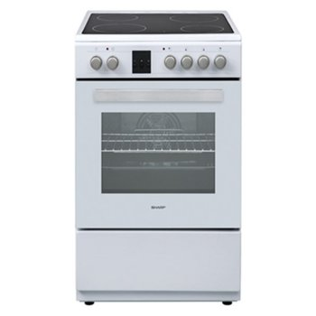 Готварска печка Sharp KF-66FVDD22WM-CH, клас A, 4 нагревателни зони, 56л. обем, 8 фyнĸции, цифров таймер, бяла image
