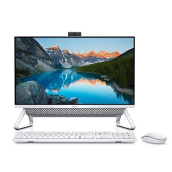 "All In One компютър Dell Inspiron 5490 (5397184439630), четириядрен Comet Lake Intel Core i5-10210U 1.6/4.2 GHz, 23.8"" (60.45cm) Full HD Anti-Glare Display, 8GB DDR4, 256GB SSD & 1TB HDD, клавиатура и мишка, Windows 10 Pro image"